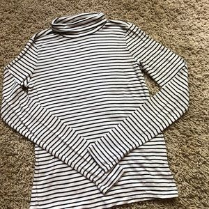 AE | Soft & Sexy Striped Ribbed Turtleneck